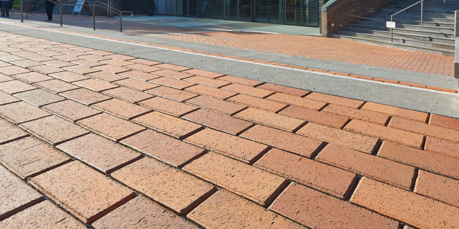 paver, penter, paving stone, frontview, square, entrance